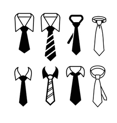 Tie icons vector