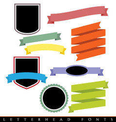 Modern ribbons and panels vector