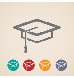 Graduation cap icons vector