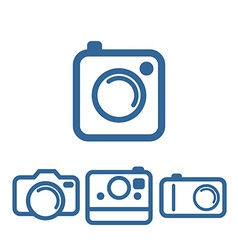 Hipsters photo camera icons vector