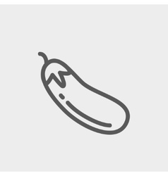 Eggplant fruit thin line icon vector