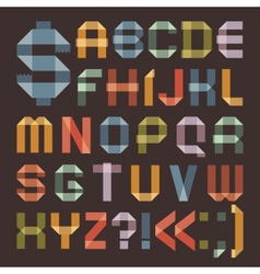 Font from colored scotch tape - roman alphabet vector