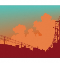 Urban clouds vector