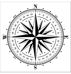 Compass rose isolated on white vector