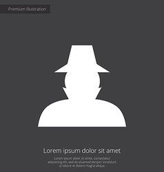 Detective premium icon white on dark background vector