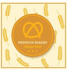 Bread label vector