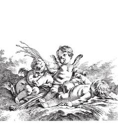 Child angels vector