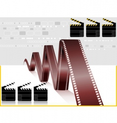Film and clapboard vector