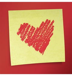 Sticky note valentines vector