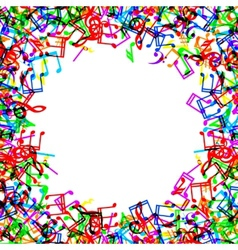 Music notes border frame vector