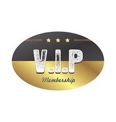 Vip member badge vector