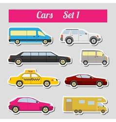 Set of elements passenger cars for creating your vector