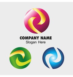 Business abstract sphere sign templates technology vector