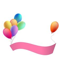 Balloons with a congratulation tape vector