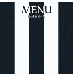Menu with a black and white stripe vector
