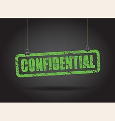 Confidential green vector