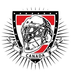 Ice hockey helmet shield of canada vector