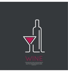 Bottle wine vector