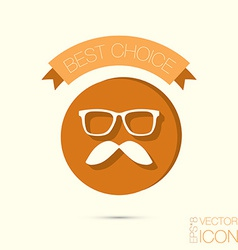 Mustache and glasses hipster icon symbol vector