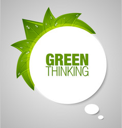 Green thinking bubble vector