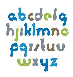 Bright acrylic font handwritten watercolor vector