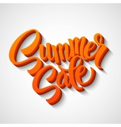 Summer sale message on orange background vector