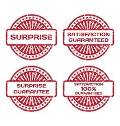 Grunge rubber stamp set satisfaction guarantee vector