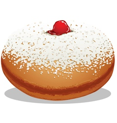 Sufganiyah hanukkah donut vector