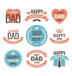 Fathers day labels and signs vector