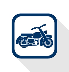 Motorcycle flat icon vector