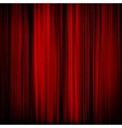 Part of a red curtain - dark eps 10 vector