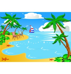 Vacation background vector