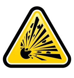 Explosive hazard sign vector
