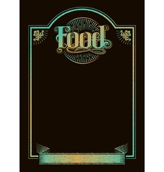 Chalkboard calligraphy food menu banner vector