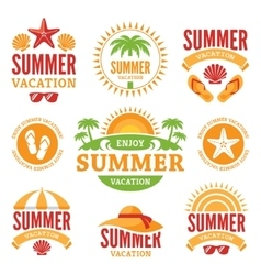 Summer holidays labels vector