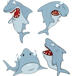 Sharks cartoon vector