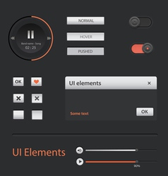 Ui web elements set vector