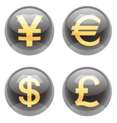 Currency buttons vector