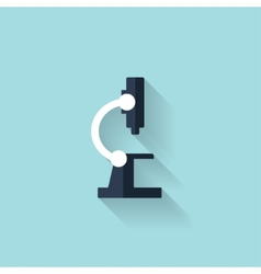 Flat microscope icon health care vector