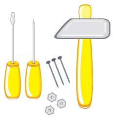 Repair tools on white background vector