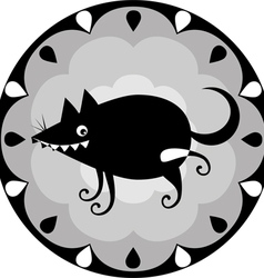 Funny chinese horoscope dog vector