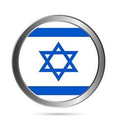 Israel flag button vector