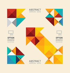 Modern infographic banner geometric arrow abstract vector
