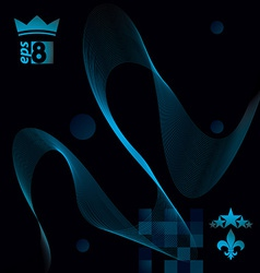 Elegant flowing lines background royal design eps8 vector