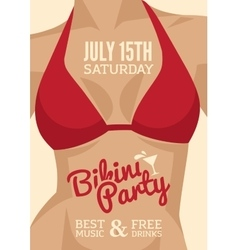 Bikini party vector