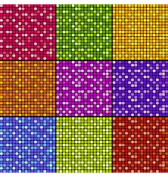 Set of mosaic patterns vector