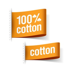 Cotton product clothing labels vector