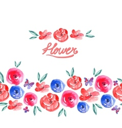 Watercolor floral seamless background vector