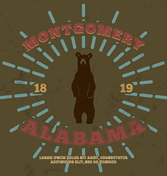 Montgomery alabama t-shirt graphic vector