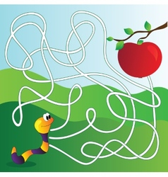 Maze labyrinth education game for children vector